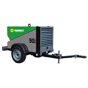 90-110CFM 125psi Diesel Air Compressor