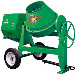 4-6 Cu ft Gas Concrete Mixer Towbehind