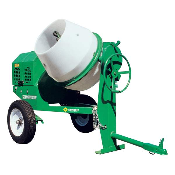 9 Cu ft Gas Concrete Mixer Towbehind Rental