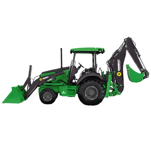 4WD Mini Backhoe 8' Dig Depth